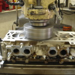 cylinder head being machined